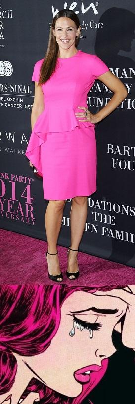 celebrity-style-Jennifer-Garner-pink-party